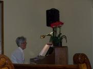 Linda at the piano