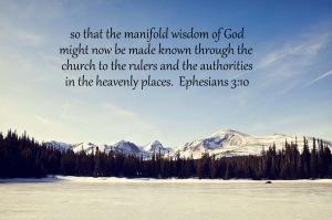 Ephesians 3;10