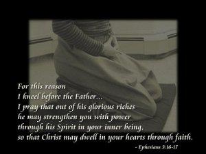 Ephesians 3;16-17