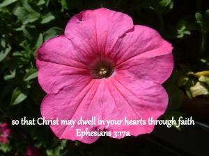 Ephesians 3;17a
