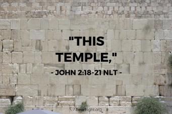 John 2;18-21
