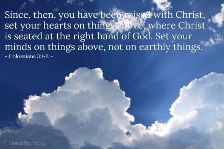 colossians 3;2